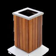 lixeira de madeira